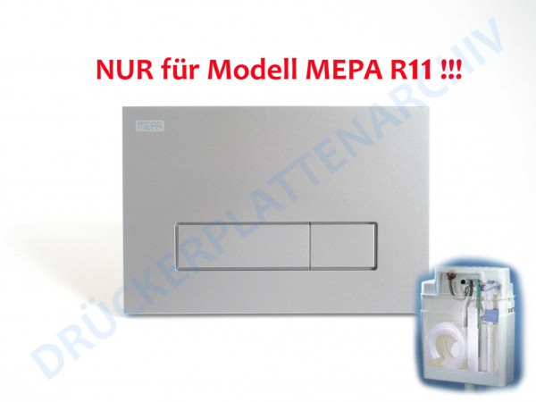 MEPA Drückerplatte ORBIT R11 (mattchrom)