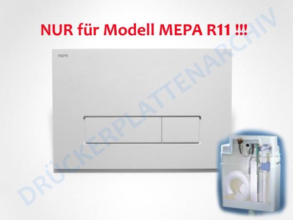 MEPA Drückerplatte ORBIT R11 (weiß)