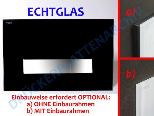 MEPA Drückerplatte ORBIT (Echtglas)